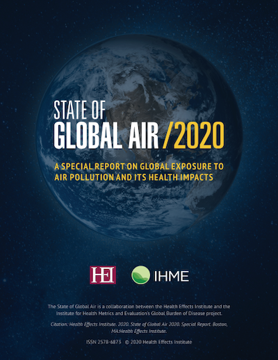 State of Global Air 2020 Report cover